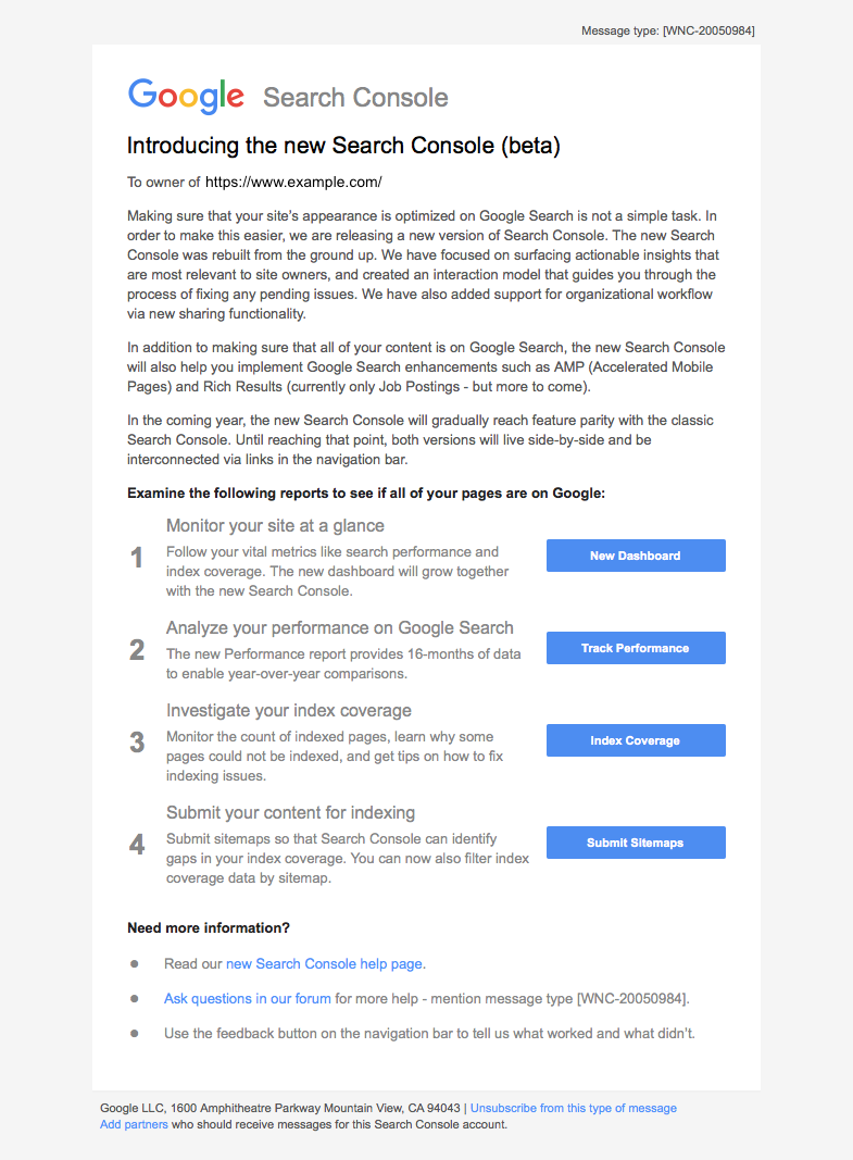 New Search Console introduction mail from Google.png